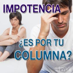 Problemas en columna puede provocar impotencia en hombres