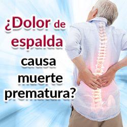 El dolor de espalda puede causar muerte prematura