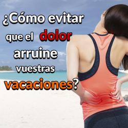 Evitar el dolor de espalda en vacaciones