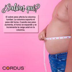 El peso afecta la columna lumbar